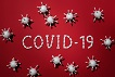 concept of covid 19 in red background 4031867 1024x683